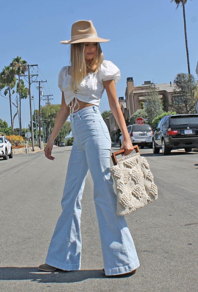 Bell-bottom Pants Outfit, Wide-leg jeans, Crop top