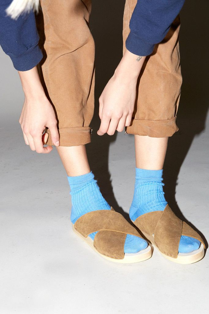 Exotic styles for fashion model, Socks and sandals