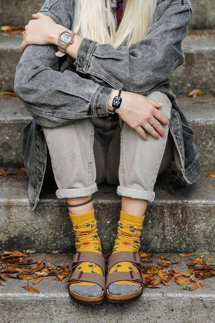 Just nice & beautiful fall birkenstocks, Socks and sandals