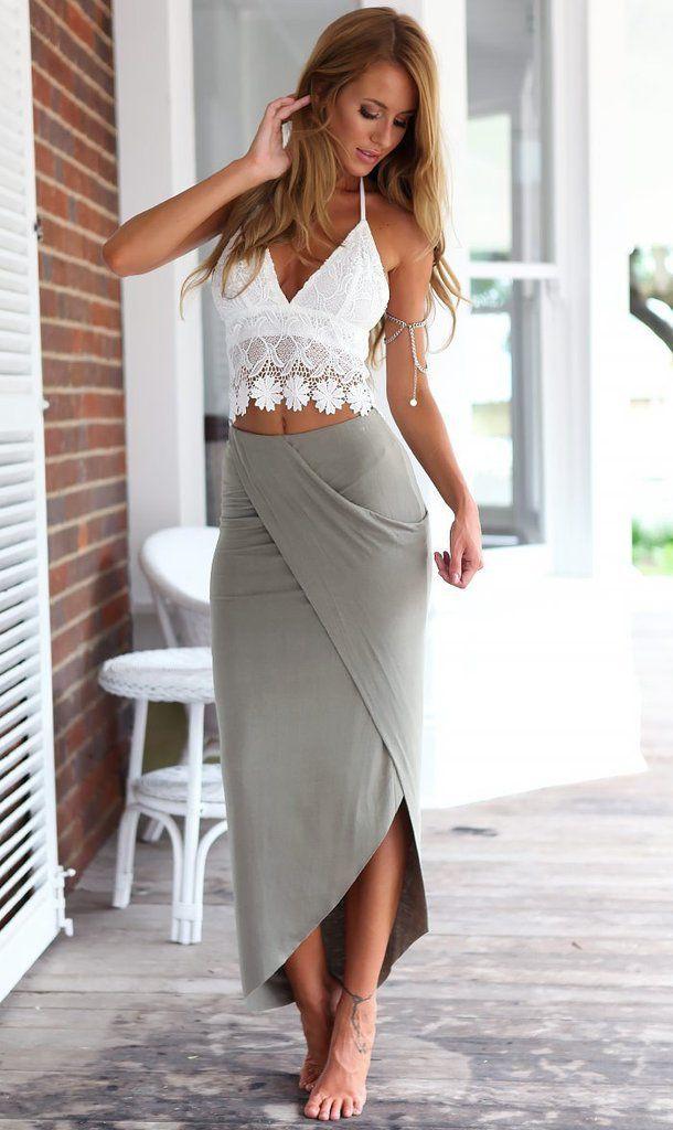 Long Wrap Skirt Style