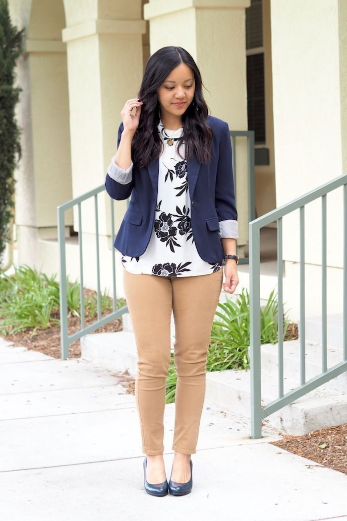 Woman school casual blazer