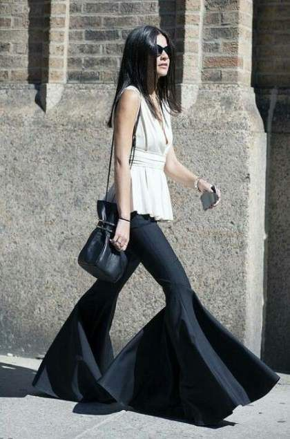Flared Pants Outfit, Wide-leg jeans, Slim-fit pants