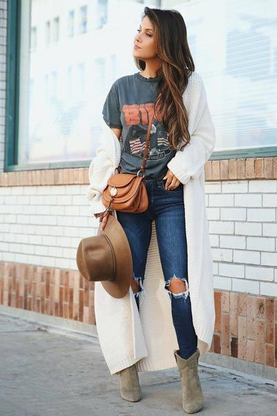 Sexy fall outfit casual, long coat
