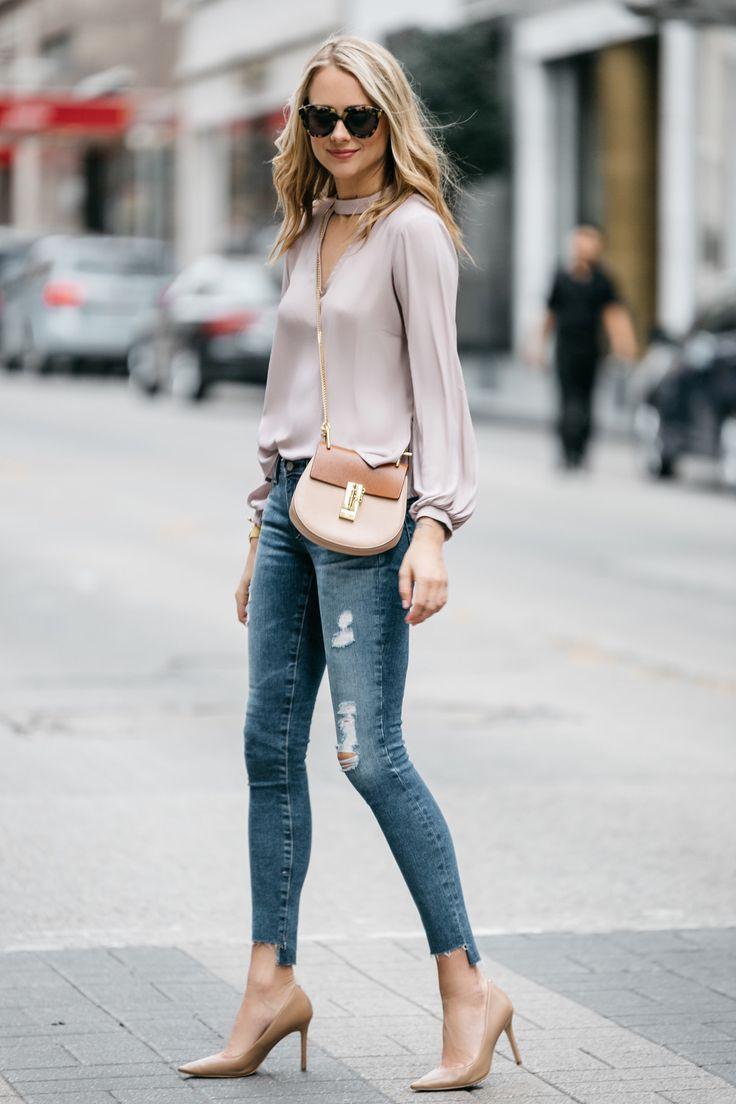 Step hem jeans outfit, Slim-fit pants