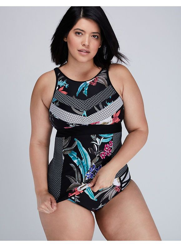 Take a look at the fashion model, Plus Size Swimwear