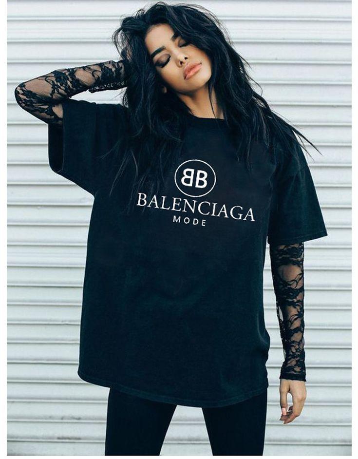 Ideas for great balenciaga shirt, Grunge fashion