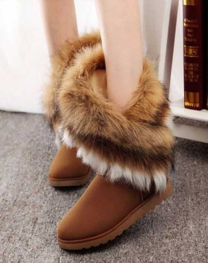 Snow boot with fur for girls