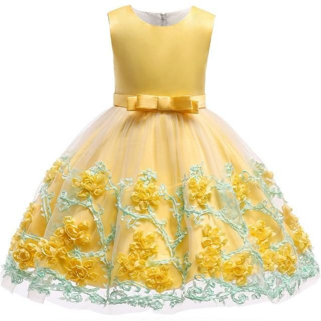 Princess party kids dresses for girls