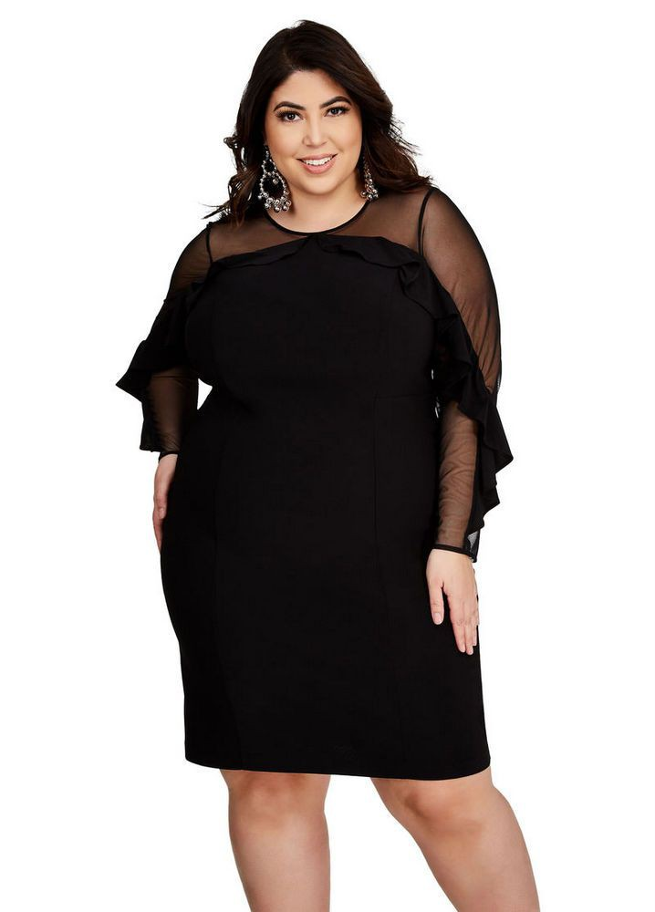 Slim girls little black dress, Ashley Stewart