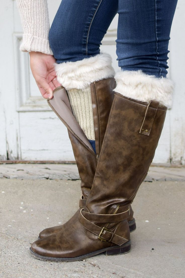 Models choice riding boot, Fur Boot Cuffs
