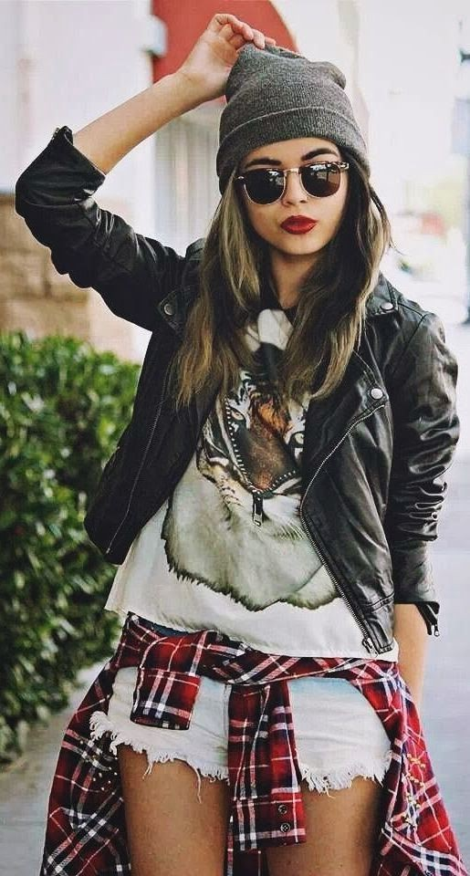 Lovely & cool hipster style girl, Grunge fashion