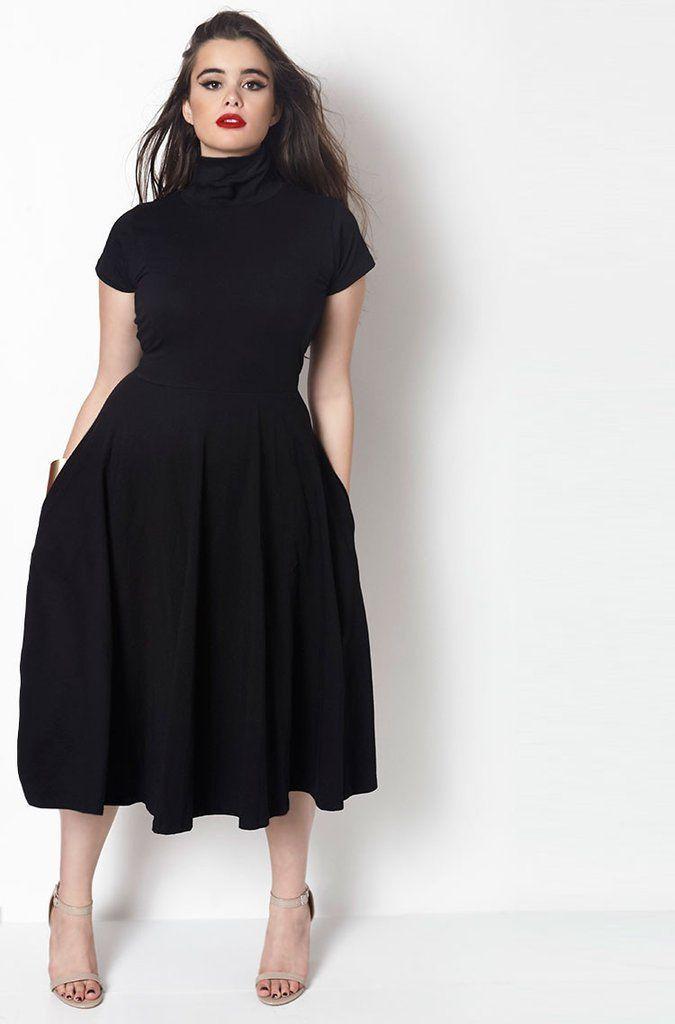 Midi dress plus size, Plus-size clothing