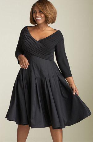 V neck dresses plus size