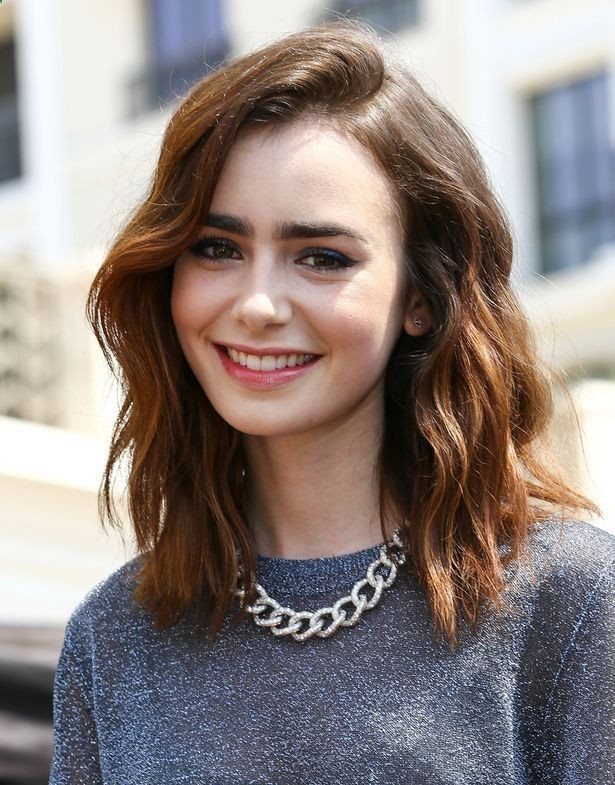 Lily collins medium length hair