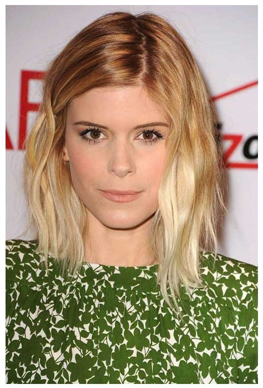 Classic look celebrity long bob, Human hair color