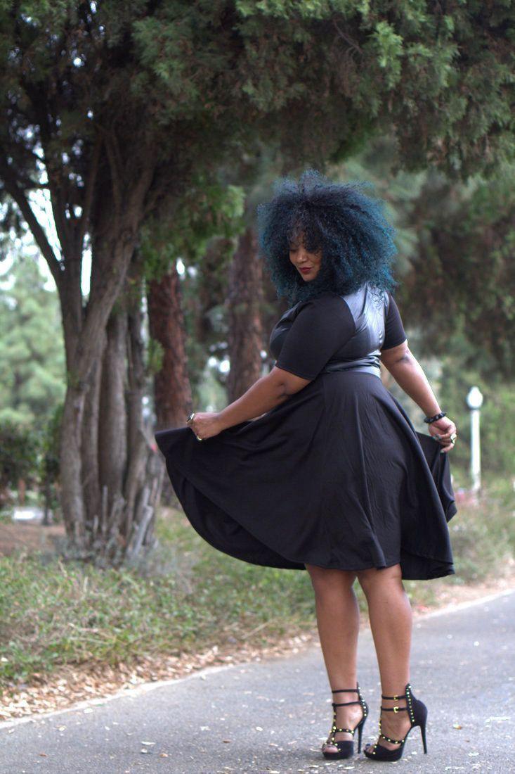 Little black dress, Plus-size model