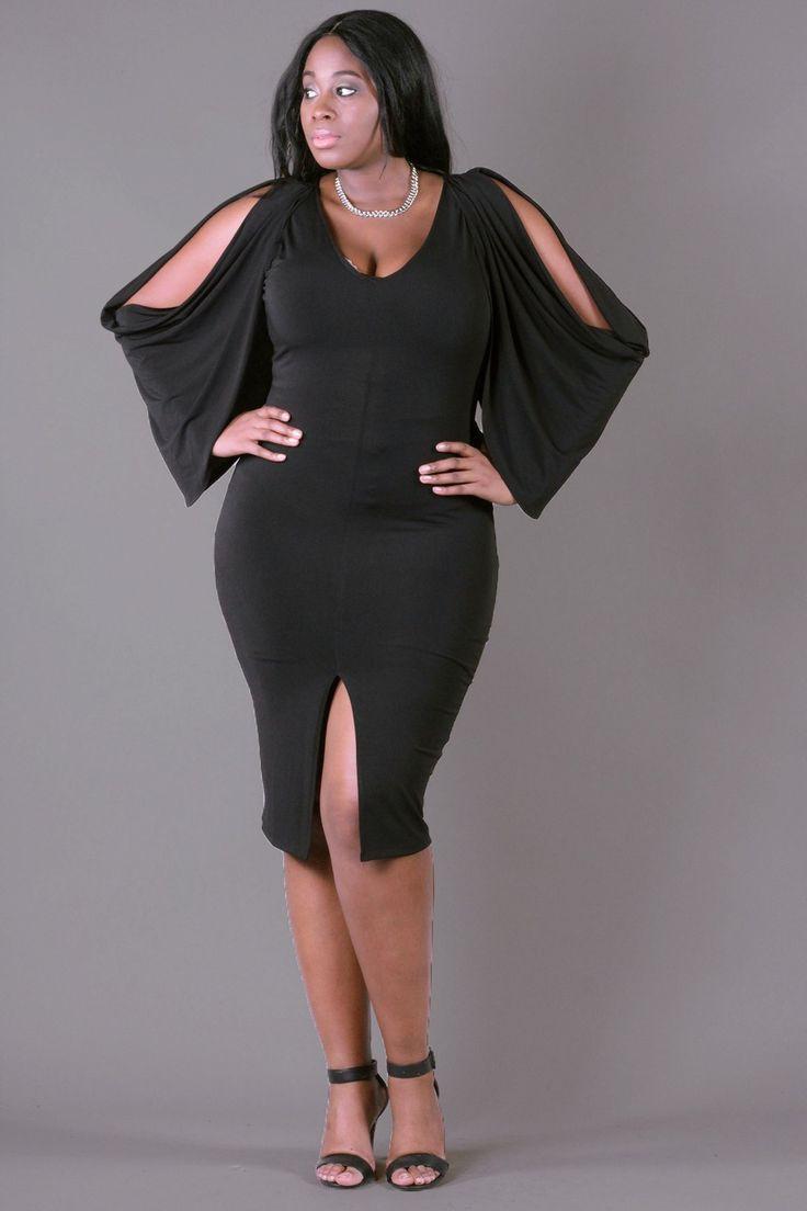 Black dress curvy plus size
