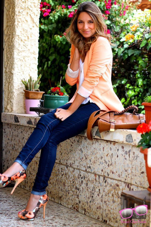 Latest and best floral shoes outfit, Casual wear