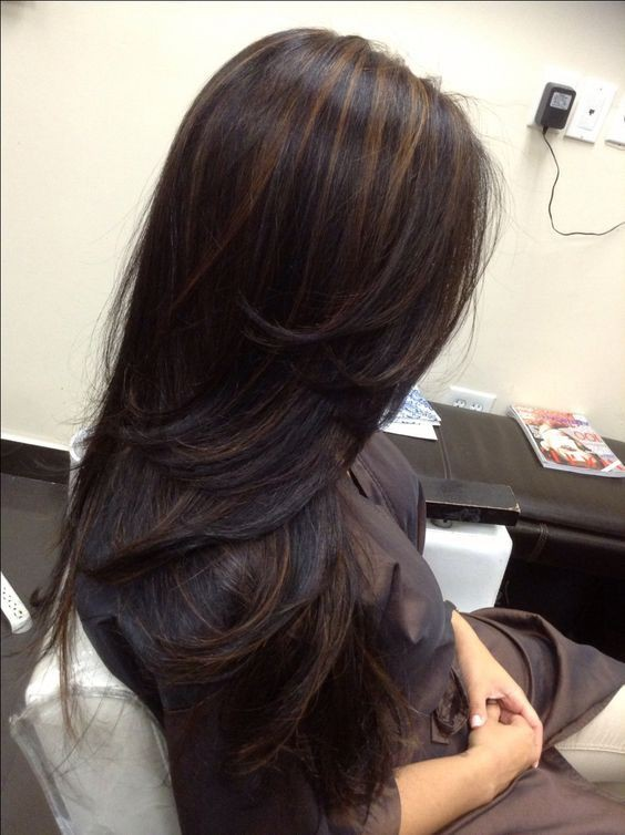 Highlights on black hair
