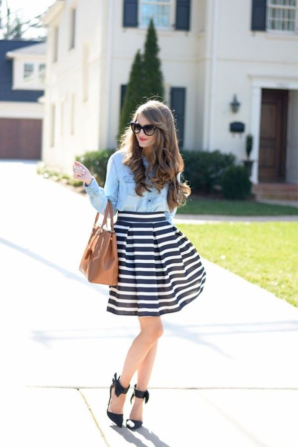 High School Preppy Girl Outfits
