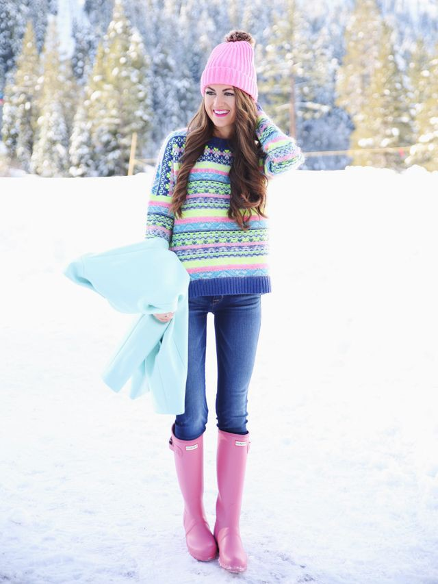 Snowing Outfit/Snow Outfit Ideas, Hunter Boot Ltd, Wellington boot