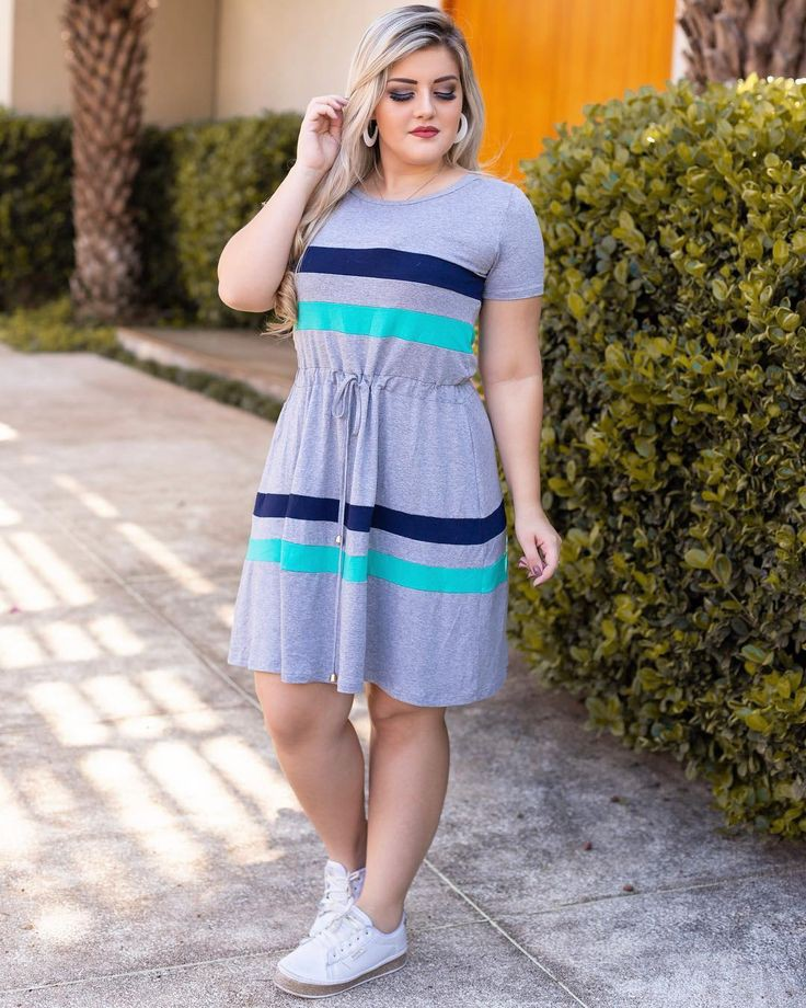 Trendy summer outfits for chubby ladies