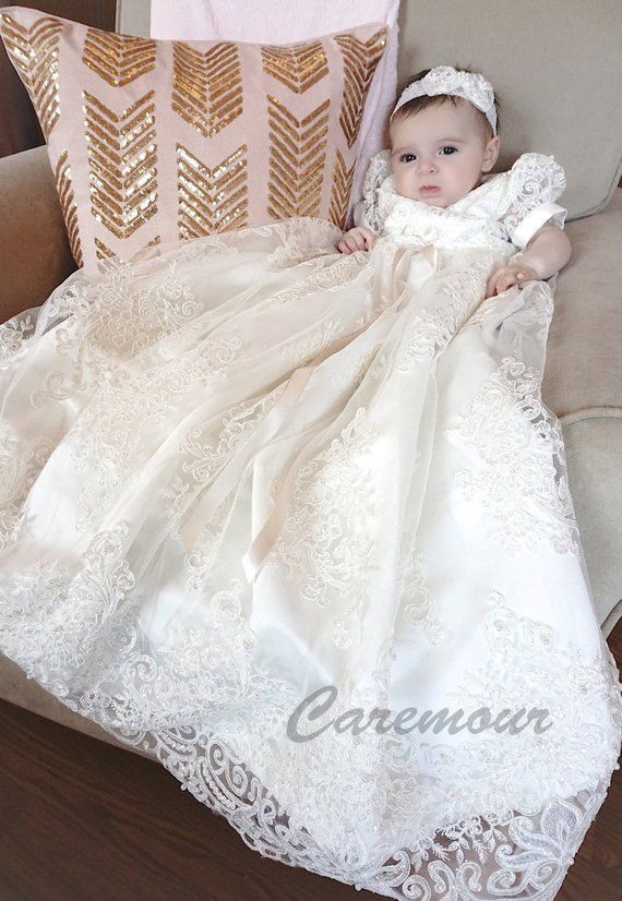 Perfect looking long christening gown, Baptismal clothing