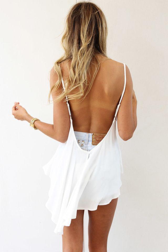 Modern backless design for teen girls