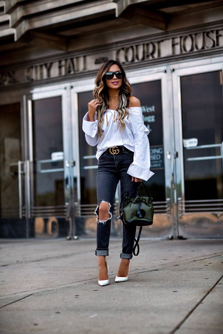 Outfits With Heels And Jeans, Off the Shoulder, Off The Shoulder