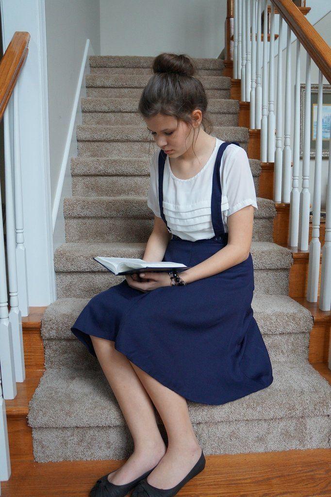 Striped midi skirt, Twirl Skirt