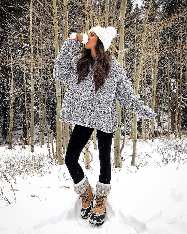 Casual Snowing Outfit/Snow Outfit Ideas, Winter clothing, Casual wear
