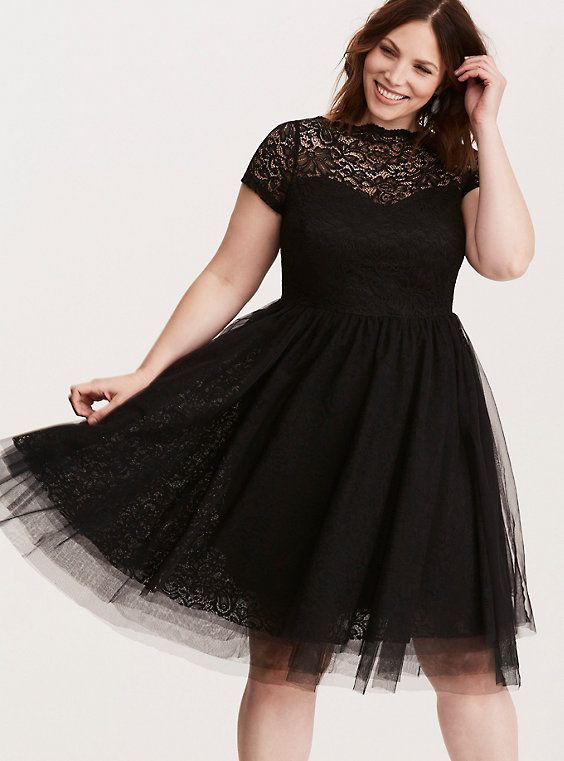 Black cocktail dress plus size