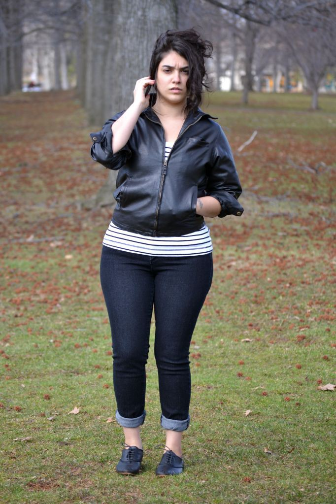 Leather jacket for teen girls