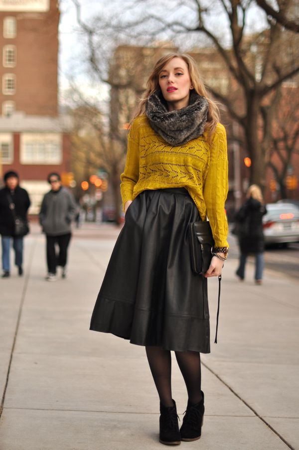 Midi skirt winter outfit, Winter clothing