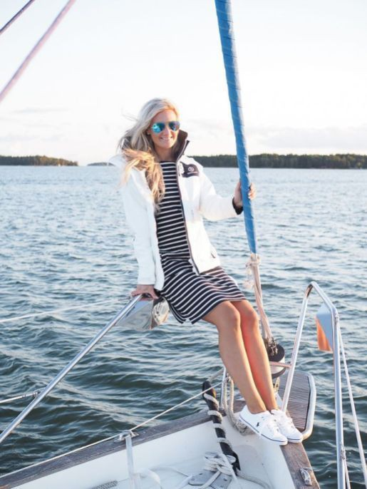 Really pretty sailing boat outfit, M.E. Gant