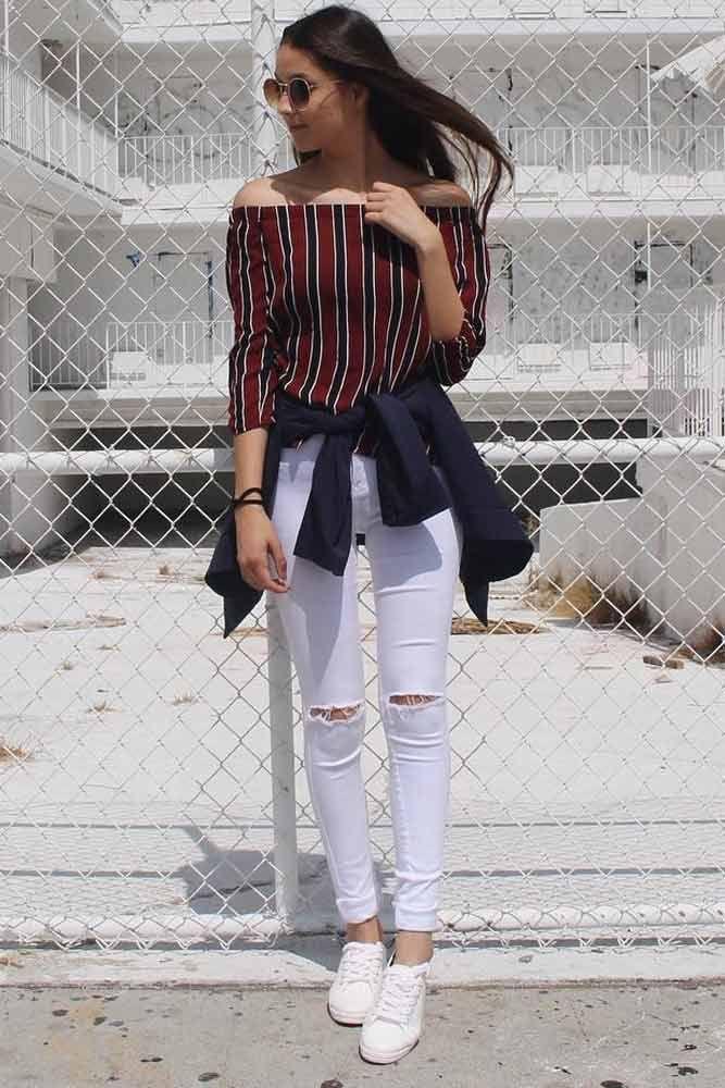 Summer Preppy Style Girl