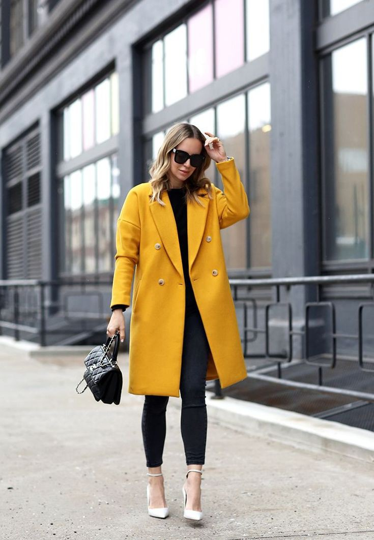 Simple yet stylish ideas for yellow coat outfit, Trench coat