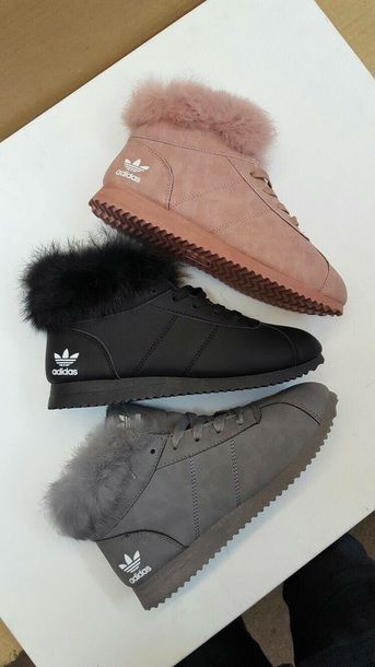Adidas shoes with fur, Snow boot