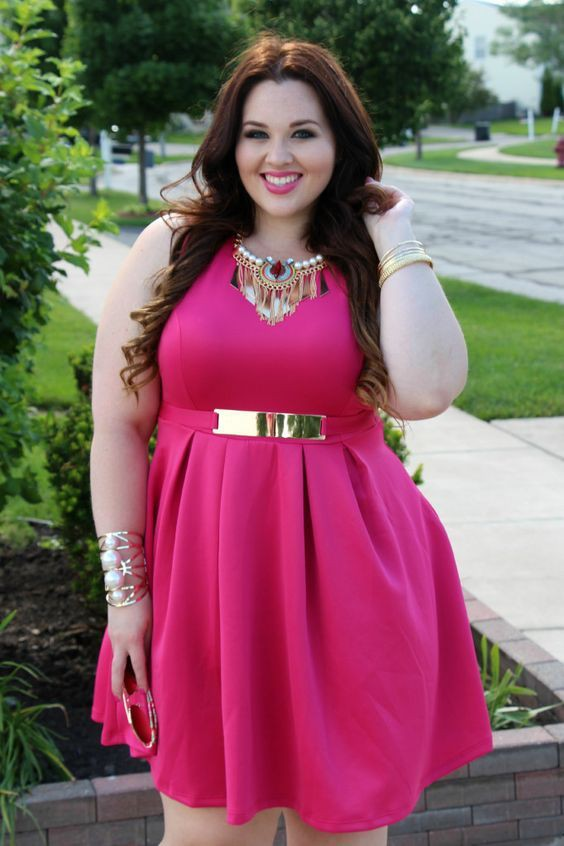 Plus size pink outfit cute bday ideas