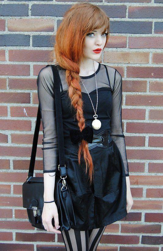 Female modern punk fashion
