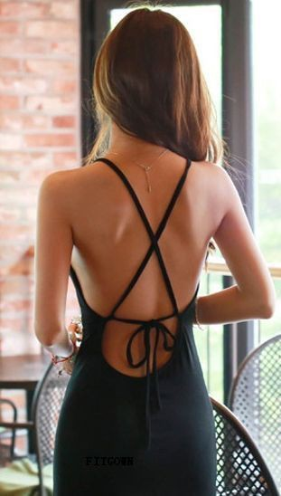 Little black dress, Backless dress