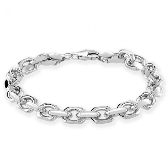 Sterling Silver 7mm Anchor Bracelet Diamond Cut £80.00