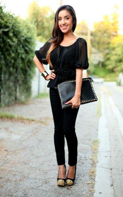 Black Leggings Outfit, Little black dress, High-heeled shoe