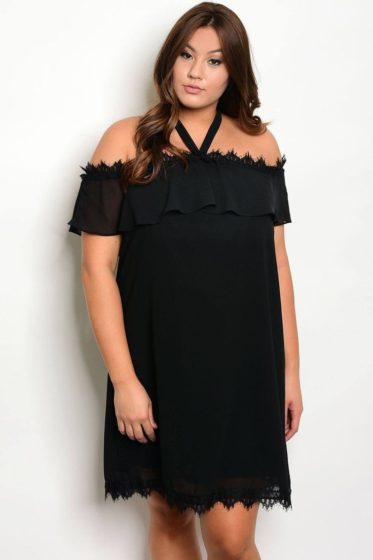 Pretty little thing black satin dress