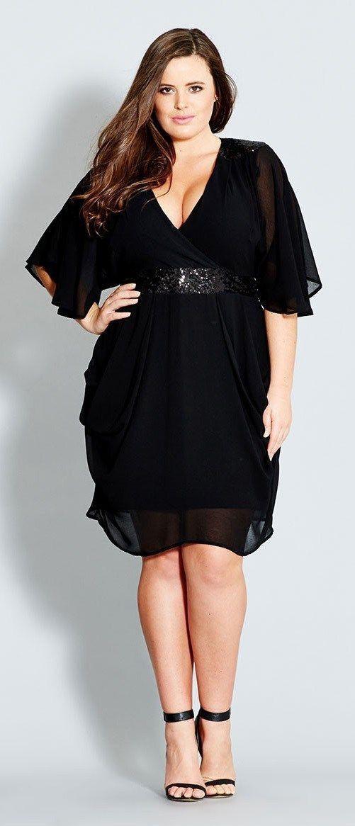 Plus size black dress, Plus-size clothing
