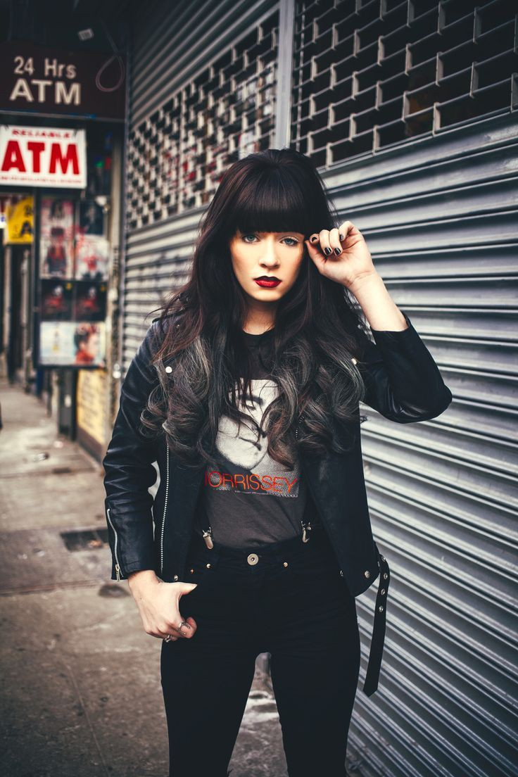 All black rock outfit, Grunge fashion