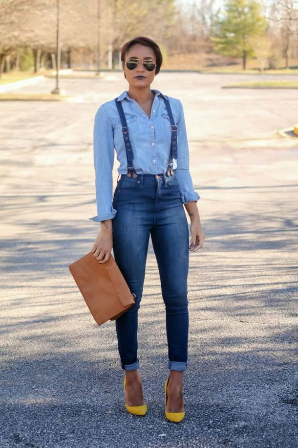 Have a look at the jeans with suspenders