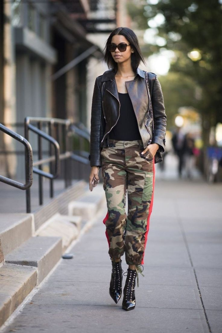 Camo Pants Outfit, Three quarter pants, Escada Embellished Jeans