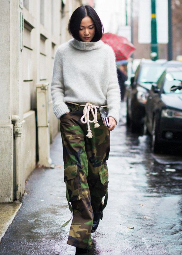 Camo pants street style, Street fashion