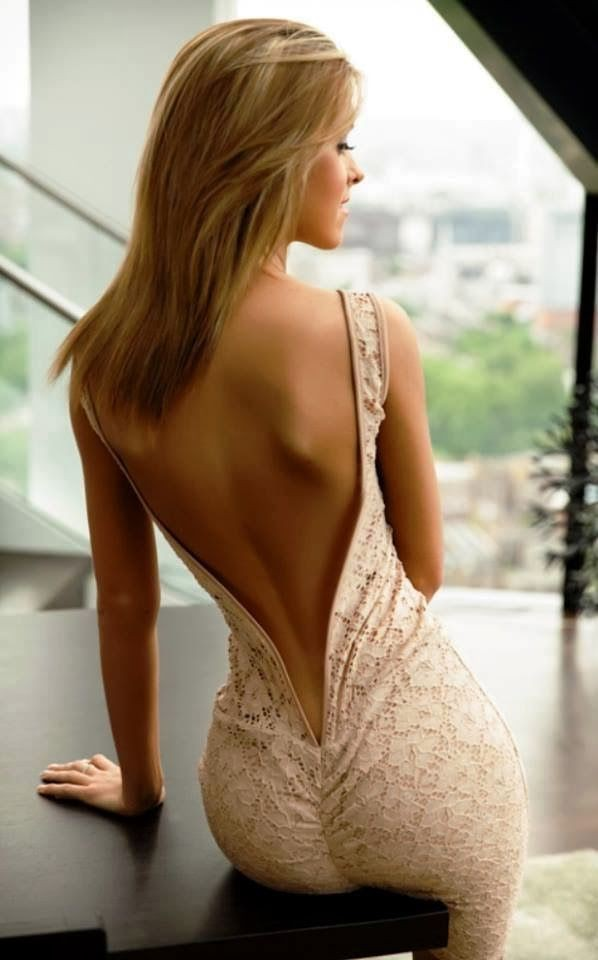 Very low backless dress for girls